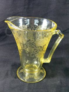 Yellow Depression Glass Water Pitcher