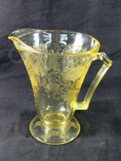 Yellow Depression Glass Water Pitcher