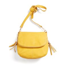 A crossbody bag in a bold, seasonal color like mustard brightens up your weekend errands. Stylist Tip: Handbags that fall at the natural waist add slight curves to a straight, lean body type. Stitch Fix | Brooklyn Crossbody Bag