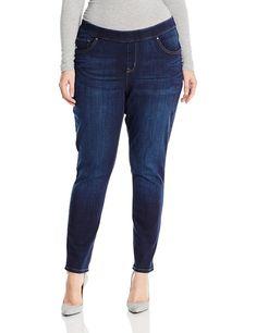 NEW PLUS SIZE Womens Indigo Blue Skinny Stretch Jeans Strappato Slim 16 18 20 22 24