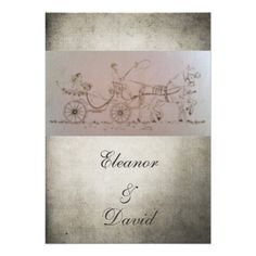 Horse and carriage vintage rustic wedding personalized invite