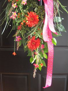 Spring Wreath FREE SHIPPING Mother's Day 40-Inch by FunFlorals