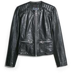 WANT   Mango Leather jacket