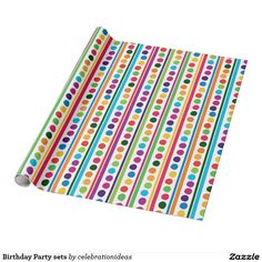 Sold #Birthday #Partysets #WrappingPaper #polkadots Available in different products. Check more at www.zazzle.com/celebrationideas