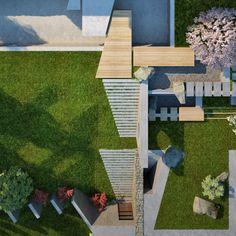 Residential garden design by member Antoaneta Yordanova Garden Design, House Design, Outdoor Spaces, Outdoor Decor, Chelsea Flower Show, Outer Space, Landscape Architecture, Stepping Stones, Home And Garden