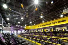 Case Study: Planet Fitness needed a cost-saving solution for the HVAC of its gyms. See how Big Ass Fans® provided a solution. Planet Fitness Locations, Wall Fans, Planet Fitness Workout, Fitness Design, Custom Paint, Gym Workouts, Planets, Industrial, Yoga