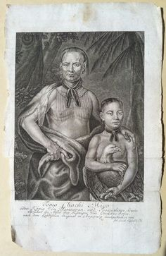 """Tomo Chachi Mico"" Engraved by Joh. Jacob Kleinschmidt after William Verelst, Augspurg, 1735  (Line engraving)"