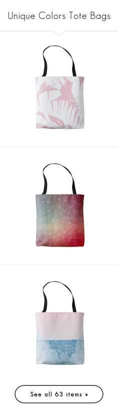 """Unique Colors Tote Bags"" by oursunnycdays ❤ liked on Polyvore featuring bags, handbags, tote bags, totes, tote handbags, white tote purse, white tote handbags, tote purses, tote hand bags and geometric purse"