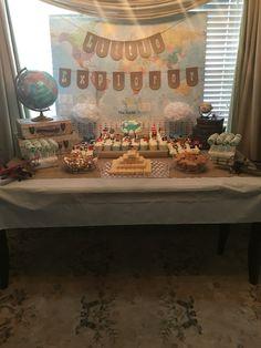 Around the world birthday. Little explorer birthday. Travel birthday. 1st birthday