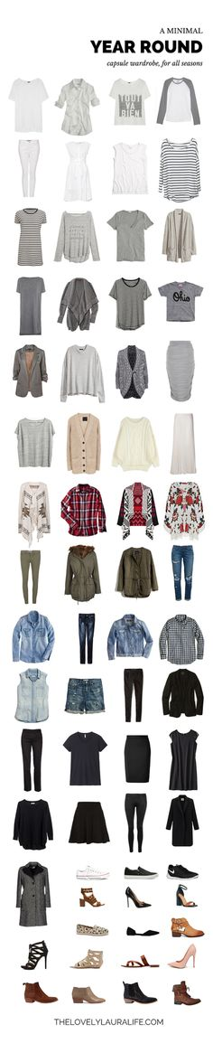 my all seasons capsule wardrobe / summer 2015 [nursing friendly] | The Lovely Laura Life | Bloglovin'