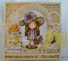 Gorgeous card by DT @Trine Easter Bonnet Avery