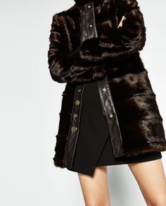 Image 4 of LONG FAUX FUR COAT from Zara