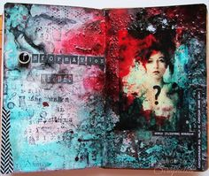 Scrapholka: Art Journal Spread for Artist Trading Post