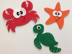 Neueste No Costs Meerestiere Kindertagesstätte Ideen, Tiere … - Kita Projekte Kids Crafts, Foam Crafts, Preschool Crafts, Diy And Crafts, Arts And Crafts, Paper Crafts, Diy Bebe, Shark Party, Ocean Party