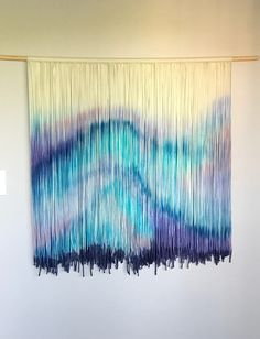 Shop for tapestry on Etsy, the place to express your creativity through the buying and selling of handmade and vintage goods. Macrame Wall Hanging Diy, Bohemian Tapestry, Modern Bohemian, Fiber Art, Workshop Bench, Northern Lights, Weaving, Diy Crafts, Dip Dyed
