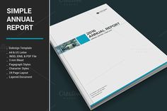 Simple Annual Report by alimran24 on @creativemarket