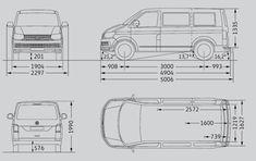 Fahrzeugabmessungen VW T5 kurzer Radstand VWBUlli Vw
