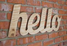 Wood lettering by local South African graphic designer - Andrew van Rensburg.
