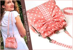 Girls Sling Purse Sewing Tutorial What an adorable and cute, teeny-weeny purse it is, one that can cause a riot of a lifetime. Every girl out there deserves one such purse. To make one, download the f