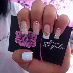 healthy breakfast ideas for kids age 9 to make 3 12 11 Diy Nails, Glitter Nails, Cute Nails, Pretty Nails, Rhinestone Nails, Stylish Nails, Cool Nail Designs, Nail Arts, Short Nails