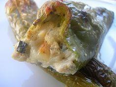 Cocinando entre Olivos: Pimientos rellenos de berenjena y queso de cabra. Paso a paso