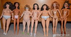 Mimi Bobeck doll (third from left) Seen her used as a body for a custom Icy…