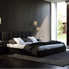 UrbanMod Rosalia Upholstered Platform Bed with Lift and Storage Size:
