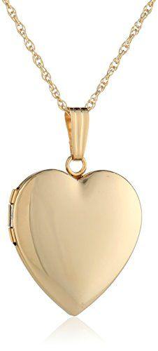 14k Yellow Gold Polished Heart Locket…