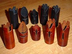 Leather chess pieces