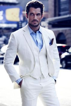 David Gandy in White Suit