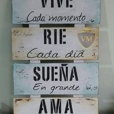 Positive Phrases, Motivational Phrases, Inspirational Quotes, Rustic Farmhouse Decor, Diy Art, Ideas Para, Wood Signs, Diy And Crafts, Wood Crafts