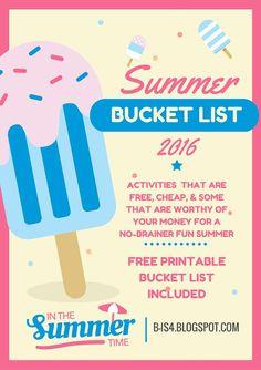 Kids' Activities, Family, Free Summer Activities