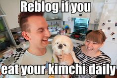Remember to Eat Your Kimchi.....  Ahhh I miss that kitchen tile.... D: