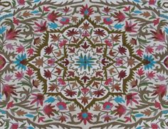 Beautiful and very colorful Floral 4X6 area rug (also available in 3X5) made of wool. Design is characterized by many color variations of tiny flowers