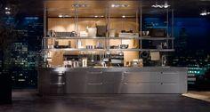 Lignum et Lapis ambiente 3 by Arclinea Modern Kitchen Cabinets, Kitchen Interior, Kitchen Decor, Kitchen Design, Kitchen Images, Kitchen Pictures, Luxury Interior Design, Interior Design Inspiration, Lacquer Furniture