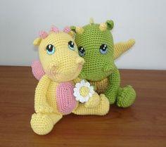 Little Dragons! How Cute! Free Crochet Pattern dragon free, dragon pattern, babi dragon