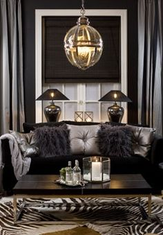 My new room colors Glam Living Room, Home And Living, Living Room Furniture, Living Room Decor, Bedroom Decor, Black And Silver Living Room, Interiores Art Deco, Style Salon, Home And Deco