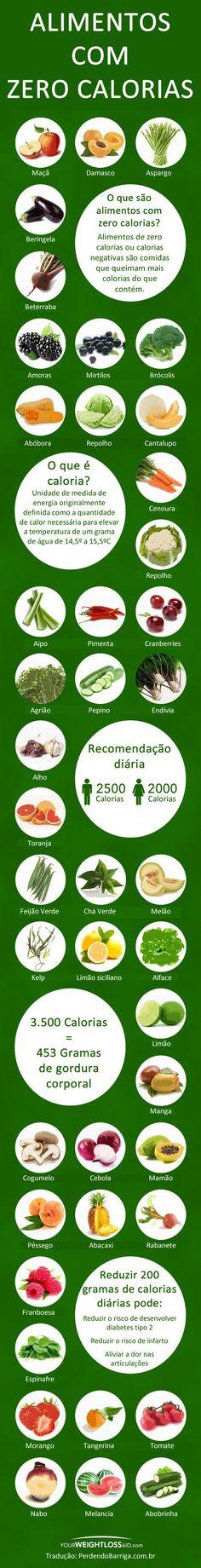 Alimentos zero calorias Mais Mais