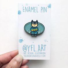 Batman Enamel Pin- Lapel Pin- Superhero Enamel Pins- Justice League- I am Batman
