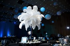 hate the feathers but check out the ceiling. if we do the lights with a few patches of short streaming ballons