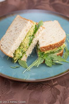 Smashed Chickpea & Avocado Salad Sandwich. This is a good recipe; you can also process/blend the sandwich filling ingredients for a great dip.