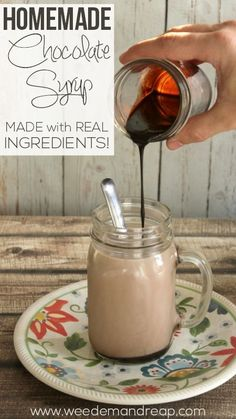 Recipe | Homemade Chocolate Syrup - Weed'em & Reap #realfood #processedfree #healthy
