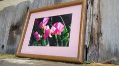 5x7 inch color photograph framed sweet peas in 9 x 11 inch frame MATTED by DesertsandBeyond on Etsy