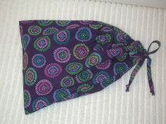 Medium Purple Circles Wrapping Bag with self fabric drawstring by CrazyAuntBettyBags on Etsy