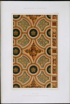 Milan : plafond à l'église de St. Maurice. XVIme siècle.