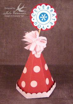 Cute birthday hat box template