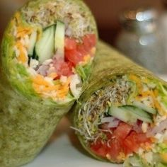 Sprouts, Veggies, and Cheese Wrap