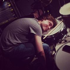 Ellington Ratliff loves his drums. I wonder what he's dreaming about
