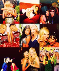 Naya Rivera & Heather Morris.