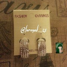 I just discovered this while shopping on Poshmark: Diamond Clip On Earrings. Check it out!  Size: OS